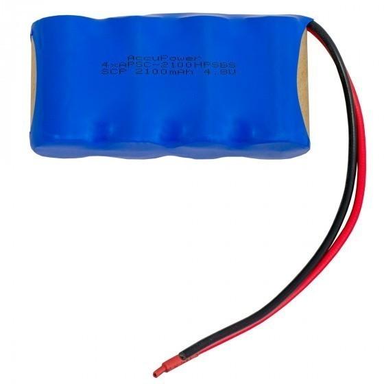 AccuPower Akku für Notleuchten Sub-C 4,8V 2100mAh