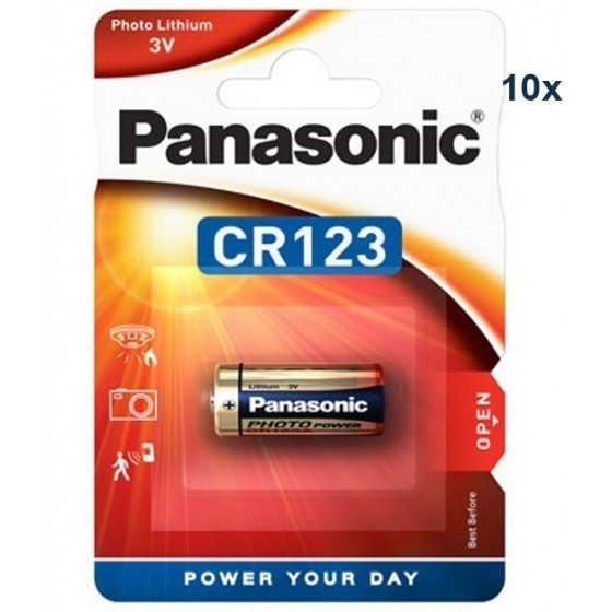 Panasonic CR123A Photo Power Lithium Batterie 10-Pack