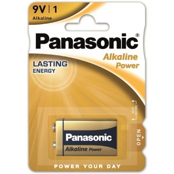 Panasonic Alkaline Power 9Volt 6LR61APB Batterie