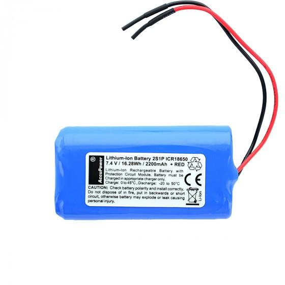 AccuPower Lithium Akku 2S1P 7,4V 2,2Ah 16,28Wh