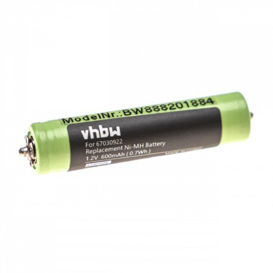 VHBW Akku AAA/Micro für Braun Cruzer 1, 67030922, NiMH, 1.2V, 600mAh