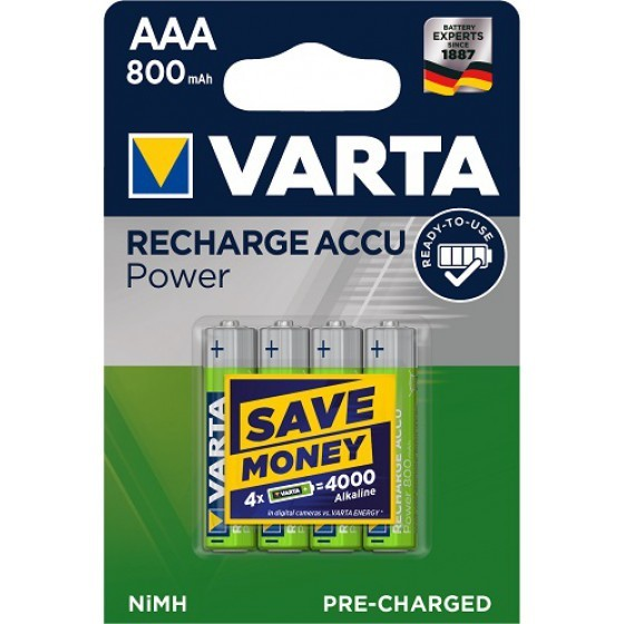 Varta 56703 Longlife AAA/Micro Ready2Use Akku 4-Pack