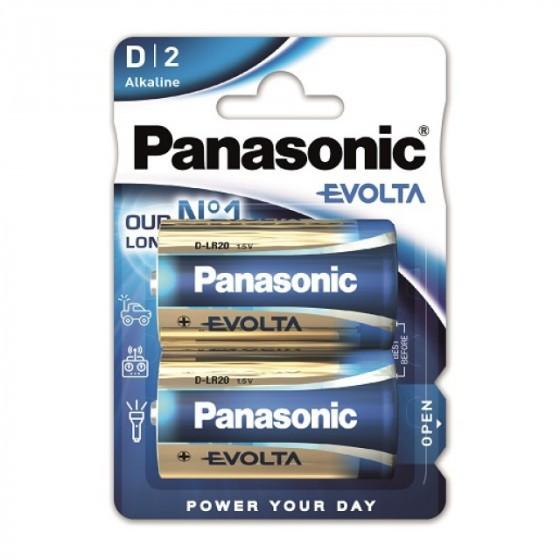 Panasonic EVOLTA D/Mono Alkaline Batterie 2-Pack