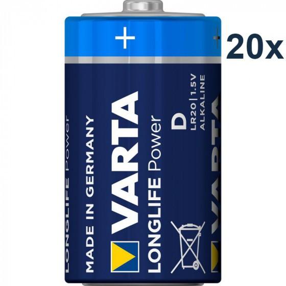 Varta 4920 High Energy D/Mono Batterie 20-Pack
