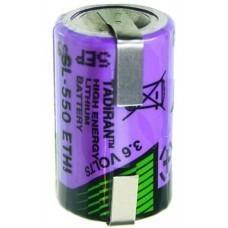 Tadiran SL550/T 1/2AA Lithium Batterie mit Lötfahne U-Form