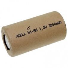 XCell X3000SCR Sub-C Akku im Kartonmantel