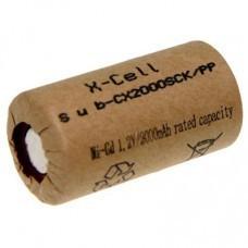 XCell X2000SCK/PP Sub-C Akku im Kartonmantel