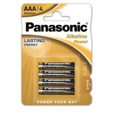 Panasonic Alkaline Power AAA/Micro LR03APB Batterie 4-Pack