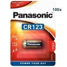 Panasonic CR123A Photo Power Lithium Batterie 100-Pack