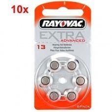 Rayovac Extra HA13, PR48, 4606 Hörgeräte Batterie 60-Pack