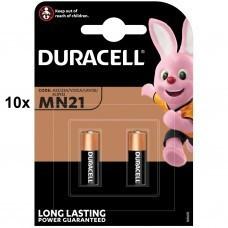 Duracell MN21 Batterie, A23, V23GA, GP23A, K23A, E23A 10x 2-Blister