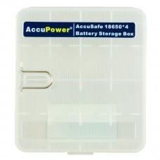 AccuPower AccuSafe, Aufbewahrungsbox für 4x 18650 oder 8x CR123A