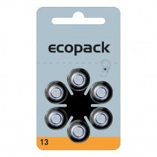 ECOPACK Hörgerätebatterie HA13 von Varta Microbattery 6-Blister