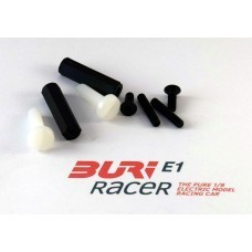 BURI Racer Set Schrauben Karosserieleiste hinten