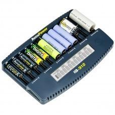 AccuPower IQ312 12-Kanal-Ladegerät Li-Ion/Ni-Cd/Ni-MH