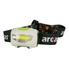 Arcas 3W LED Stirnleuchte, Kopflampe 4 Funktionen, 120 Lumen