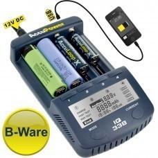 B-WARE: AccuPower Universal IQ338 Ladegerät mit USB-Ausgang Li-Ion/Ni-Cd/Ni-MH
