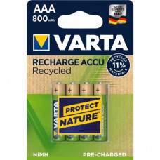 Varta 56813 Recharge Accu Recycled Micro Akku 4-Blister