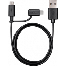 Varta 2in1 Charge & Sync Cable USB zu Micro USB und USB Type C