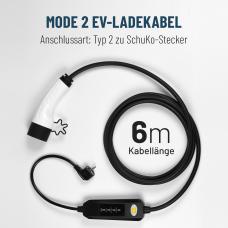 Elektroauto Ladekabel MODE2 Typ 2 Stecker gemäß IEC62196