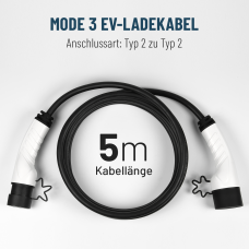 Elektroauto Ladekabel MODE3 Typ 2 Stecker gemäß IEC62196