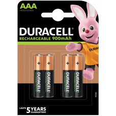 Duracell Rechargeable AAA, Micro, HR03 Akku 900mAh, 4-Pack