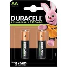 Duracell Rechargeable AA, Mignon, HR06 Akku 2500mAh, Akku 2-Pack