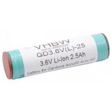 VHBW Akku für Gardena Accu60, 3.6V, Li-Ion, 2500mAh
