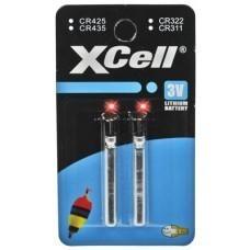 XCell Stabbatterie Typ CR435 3V für Angelposen, LED etc., 2-Blister