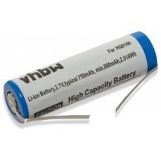 VHBW Akku für Philips HQ8100, 3.7V, Li-Ion, 750mAh