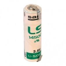 Saft LS14500CNR AA/Mignon Lithium Batterie mit Lötfahnen