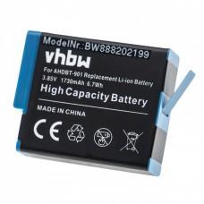 VHBW Akku mit Chip für GoPro 9, SPBL1B, 1730mAh