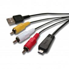 USB Kabel Datenkabel (Standard-USB Typ A auf Kamera), 140cm, Ersatz für Sony VMC-MD3 für Kamera, Camcorder