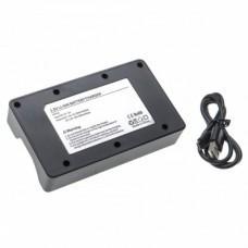 VHBW Micro USB Ladegerät für 8x AA oder 8x AAA-Li-Ion Akkus
