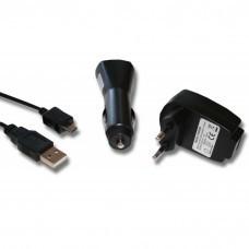 4-in-1-Zubehörset für Micro-USB: Ladegerät, KFZ-Adapter, Daten- und Ladekabel