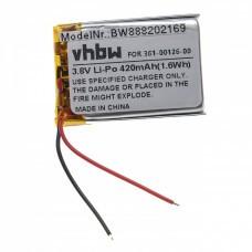 VHBW Akku für Garmin Fenix 6X, 361-00126-00 420mAh, 3.8V, Li-Polymer
