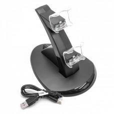 LED-Dual-Ladestation für Sony PlayStation 4 Pro/Slim Controller, schwarz