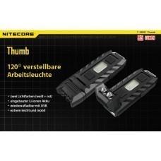 Nitecore THUMB LED-Schlüsselanhänger-Taschenlampe, 85 Lumen, 120° neigbarer Kopf
