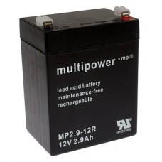 Multipower MP2.9-12 Blei-Akku 12V mit Pluspol rechts