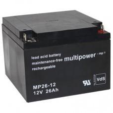 Multipower MP26-12 Blei-Akku 12Volt