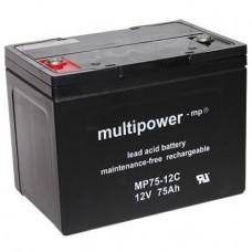 Multipower MP75-12C Blei-Akku 12Volt