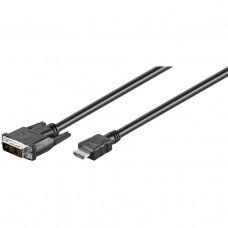 HDMI Kabel mit DVI-D Stecker Kabellänge 1 Meter