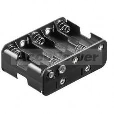 Batteriehalter für 10x AA/Mignon/LR6 Batterien oder Akkus