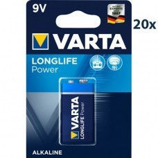 Varta 4922 High Energy 9Volt/6F22 Batterie 20-Pack