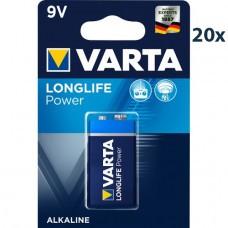 Varta 4922 High Energy 9Volt/6F22 Batterie 20-Pack