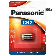 Panasonic batería de litio CR2 CR2EP 100-Pack