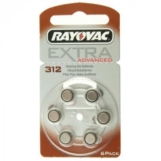 Rayovac Extra HA312, PR41, 4607 hearing aid battery 6 pcs.