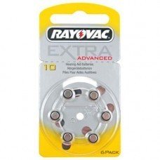 Rayovac Extra HA10, PR70, 4610 hearing aid battery 6 pcs.