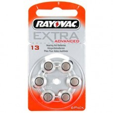Rayovac Extra HA13, PR48, 4606 hearing aid battery 6 pcs.