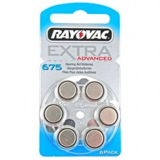 Rayovac Extra HA675, PR44, 4600 hearing aid battery 6 pcs.